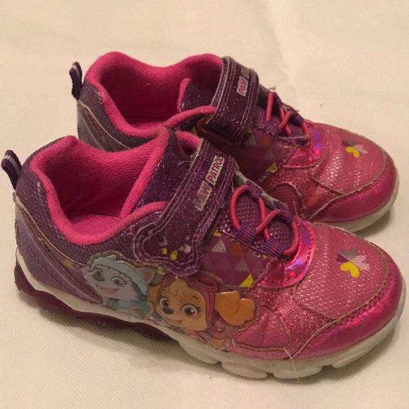Paw Patrol Pink Girls Sneaker Shoes